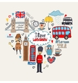 I Love London card design vector image