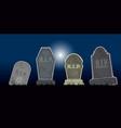 set of halloween tombs vector image