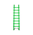 wooden ladder in green design with shadow leading vector image