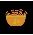 flat icon on background of halloween candy vector image