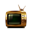 Steampunk retro tv isolated on white vector image