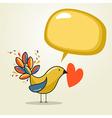 Social media bird speech vector image vector image