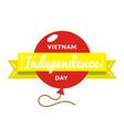 vietnam independence day greeting emblem vector image