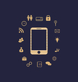 Smartphone with set infographic elements vector image vector image