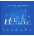 Architectural building blueprint vector image
