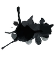Black blot vector image