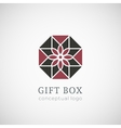 Gift box logo isolated on white vector image