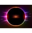 Dark red shining cosmic ring vector image vector image
