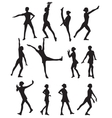 Silhouette of a Dancing Woman vector image vector image