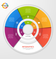 circle infographic template 5 options vector image vector image