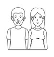 couple casual avatars characters vector image