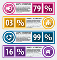 Modern infographics options vector image