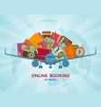 online booking flat concept vector image
