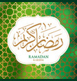 ramadan kareem arabic calligraphy vector image