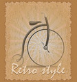 retro style poster old bike vector image