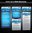 web display banner with space for your text vector image