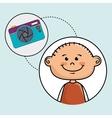 boy camera photo images vector image