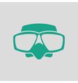 Icon of scuba mask vector image