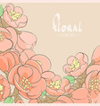 apple tree floral background vector image vector image
