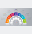 circle chart template for infographics 7 vector image