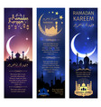 greeting banners set for ramadan kareem vector image vector image