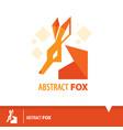 abstract fox icon symbol vector image vector image