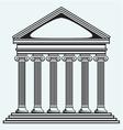 Portico an ancient temple Bank Colonnade vector image vector image