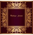 Frame with lace square ornament vector image vector image