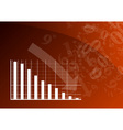 red graph vector image vector image