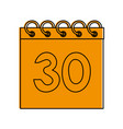 calendar with number 30 icon image vector image