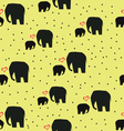 elephans on yellow background vector image