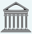 Portico an ancient temple Bank Colonnade vector image