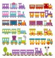Toy train different cartoon vector image