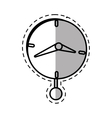 clock time business money pendulum shadow vector image