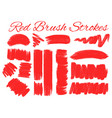 different strokes in red color vector image