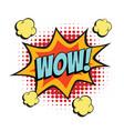 wow comic word vector image