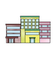 buildings various urban and houses real estate vector image