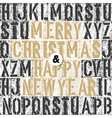 merry christmas retro letterpress card vector image