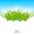 Summer Natural Postcard with Green Grass vector image