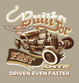 built for fast speed vector image vector image