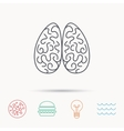 Neurology icon Human brain sign vector image