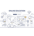 Online Education Doodle Concept vector image vector image