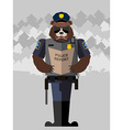 Bear police officer vector image