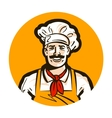 cafe restaurant logo diner or cook chef vector image