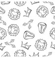 lion doodle pattern background hand draw vector image