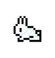 Pixelated Bunny 8 bit Pixel Art - Isolated vector image