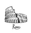 rome colosseum black white vector image