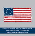 american betsy ross flag flat - artistic brush