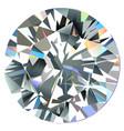 diamond top view vector image vector image
