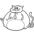 saying fat cat bw m vector image vector image